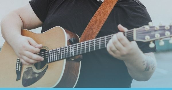 Best Guitars for Large hands - blog cover updated